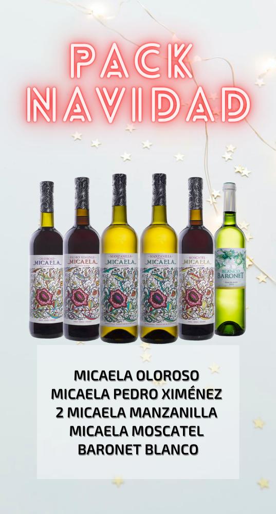 pack navidad vino